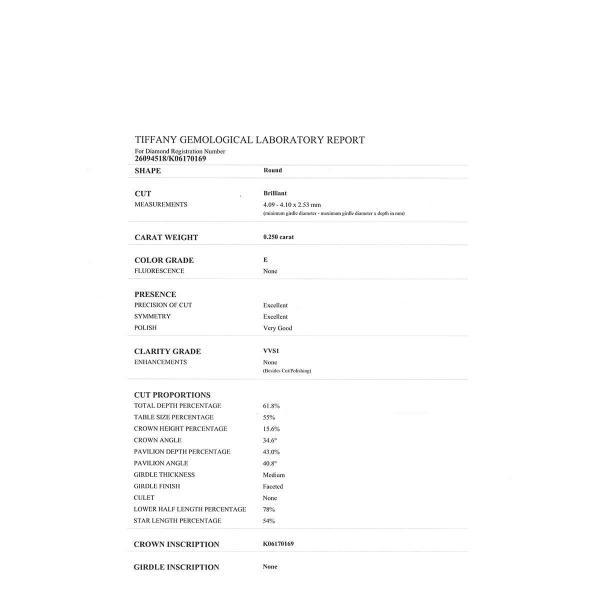 ティファニー ソリティア ネックレス 0.28ct Jカラー VVS2 3EX 1ポイント ダイヤ ブリリアントカット ソリテール Pt950 【ジュエリー】|turuya783|06