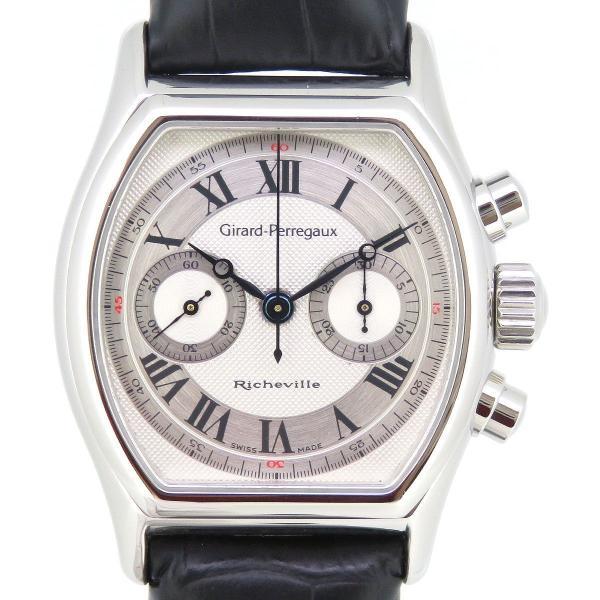 ジラールペルゴ リシュビル クロノグラフ メンズ ギャラ付 【時計】|turuya783