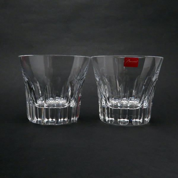 バカラ エトナ ロックグラス ペア 2104385 2客セット グラス タンブラー クリスタルガラス 美品 【陶磁器・ガラス製品】 turuya783