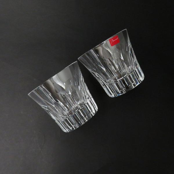 バカラ エトナ ロックグラス ペア 2104385 2客セット グラス タンブラー クリスタルガラス 美品 【陶磁器・ガラス製品】 turuya783 02