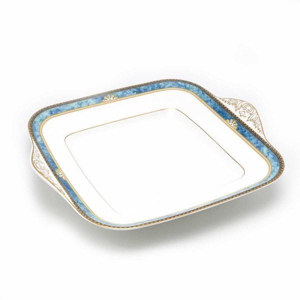 ウェッジウッド カーゾン BB/27.5cm プレート 2点 スクエア 金彩 美品 【陶磁器・ガラス製品】|turuya783|05