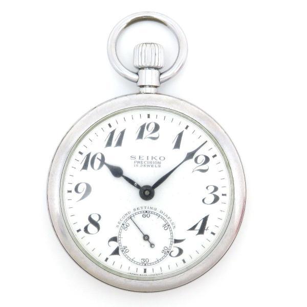 セイコー プレシジョン 鉄道時計 アンティーク・ヴィンテージ メンズ 19セイコー 秒針規制装置付 ポケットウォッチ 【時計】 turuya783