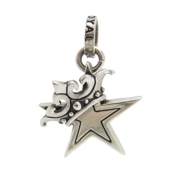 ロイヤルオーダー スモール スター WITH クラウン ペンダントトップ 星 王冠 SMALL SOLID STAR WITH CROWN SV925 【ジュエリー】|turuya783