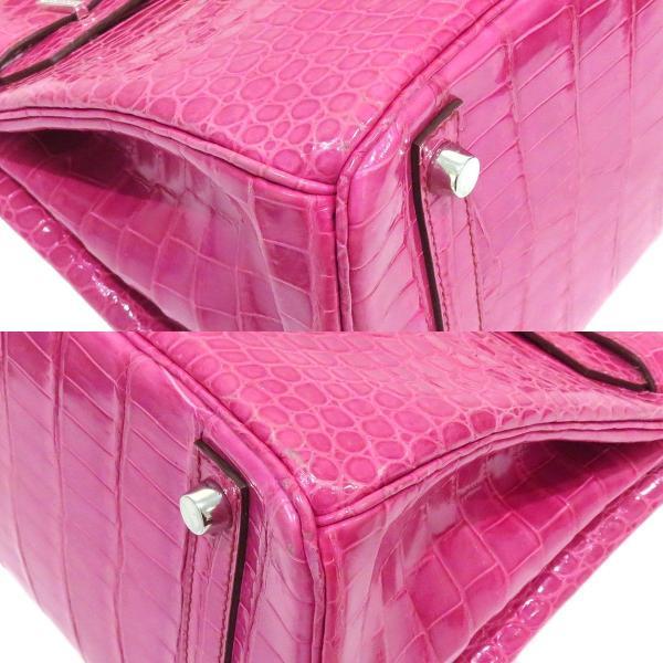 エルメス バーキン30 ハンドバッグ 035332CG ピンク クロコダイル ダイヤモンド ホワイトゴールド レア 【バッグ】 turuya783 04