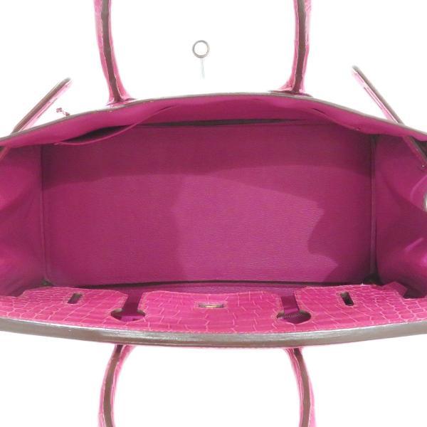 エルメス バーキン30 ハンドバッグ 035332CG ピンク クロコダイル ダイヤモンド ホワイトゴールド レア 【バッグ】 turuya783 06
