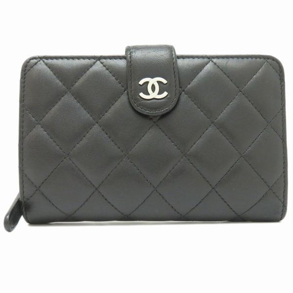 シャネル 二つ折り財布 マトラッセ 2つ折り財布 A48667 ココマーク 【財布】 turuya783