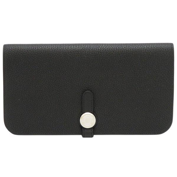 エルメスドゴンロング長財布061200CK89ドゴンレクトヴェルソ二つ折り財布美品 財布
