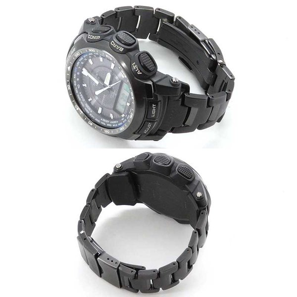 カシオ プロトレック ブラックチタンリミテッド メンズ PRO TREK 電波時計|turuya783|03