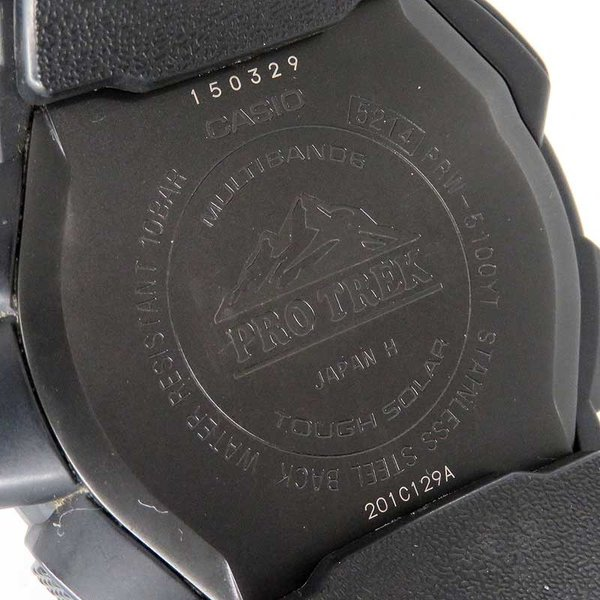 カシオ プロトレック ブラックチタンリミテッド メンズ PRO TREK 電波時計|turuya783|06