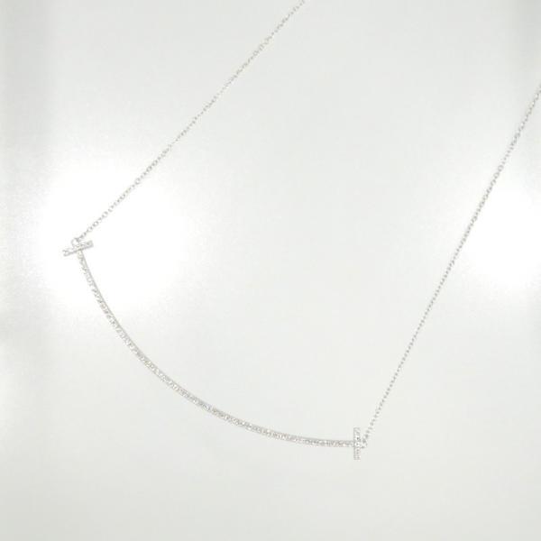 新品仕上げ Tiffany ティファニー K18WG ダイヤモンド Tスマイル ネックレス ティファニーT|turuya783|02
