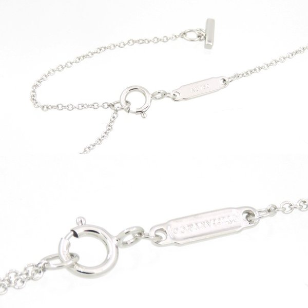 新品仕上げ Tiffany ティファニー K18WG ダイヤモンド Tスマイル ネックレス ティファニーT|turuya783|03
