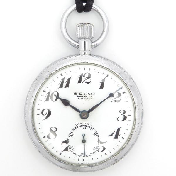 セイコー プレシジョン 鉄道時計 アンティーク ヴィンテージ メンズ 1963年製造 19セイコー 国鉄 ポケットウォッチ|turuya783