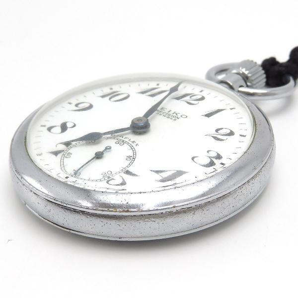 セイコー プレシジョン 鉄道時計 アンティーク ヴィンテージ メンズ 1963年製造 19セイコー 国鉄 ポケットウォッチ|turuya783|04