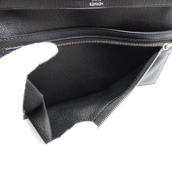 エルメス ベアンスフレ 長財布 ノワール 二つ折り財布 クロコダイル 美品|turuya783|06