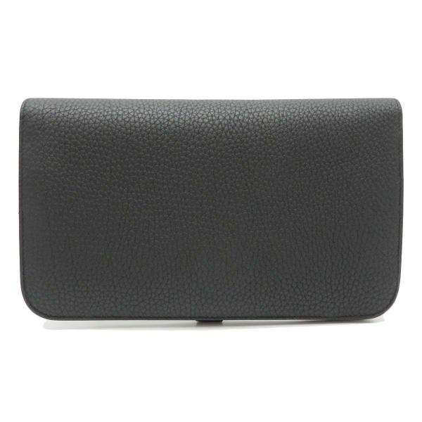 エルメス ドゴンGM 長財布 二つ折り財布 ノワール 美品|turuya783|02