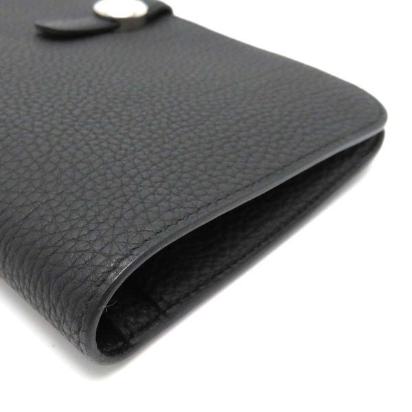 エルメス ドゴンGM 長財布 二つ折り財布 ノワール 美品|turuya783|04