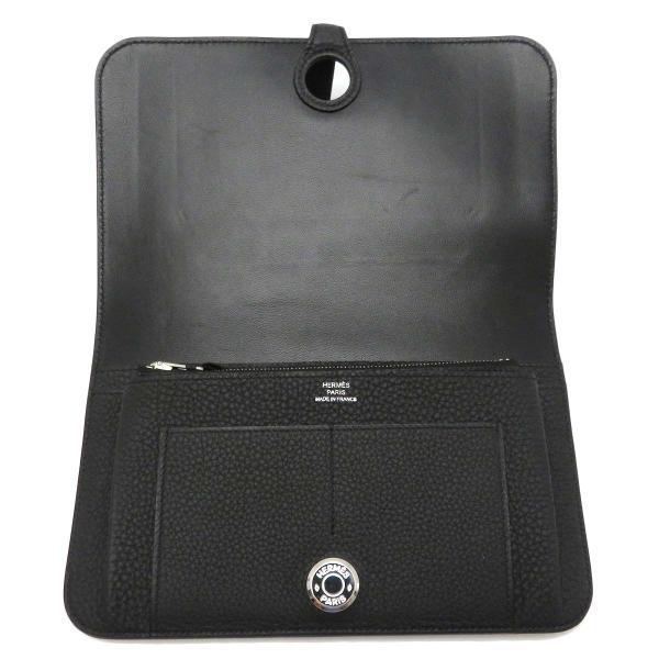 エルメス ドゴンGM 長財布 二つ折り財布 ノワール 美品|turuya783|05