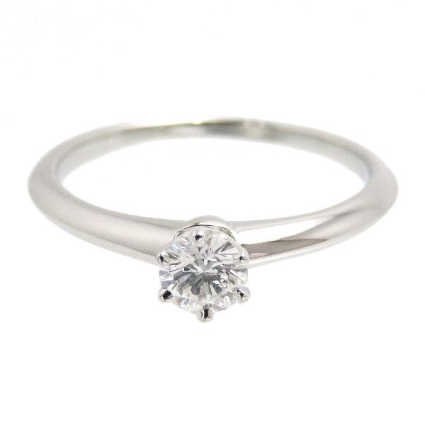 ティファニー ソリティア リング プラチナ エンゲージリング 婚約指輪 Pt950 0.24ct 1ポイント ダイヤ ソリテール ティファニーセッティング クラシック
