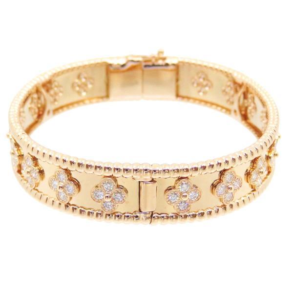 ヴァンクリーフ&アーペル ペルレ クローバー ダイヤモンド ブレスレット ミディアム K18PG