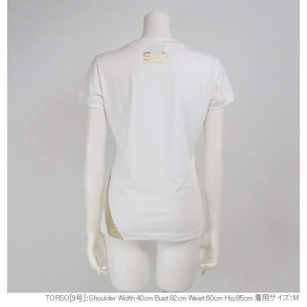 エンポリオアルマーニ EMPORIO ARMANI Tシャツ レディース クルーネック ゴールド箔プリント 半袖|tutto-tutto|02