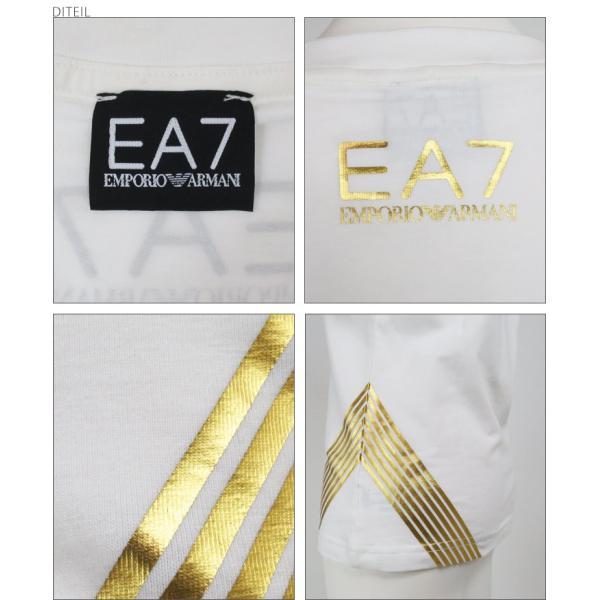 エンポリオアルマーニ EMPORIO ARMANI Tシャツ レディース クルーネック ゴールド箔プリント 半袖|tutto-tutto|03