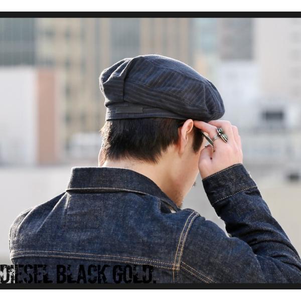 ディーゼルブラックゴールド DIESEL BLACK GOLD ベレー帽 帽子 メンズ ウール混 ストライプ CAPPRETY-WC|tutto-tutto|03