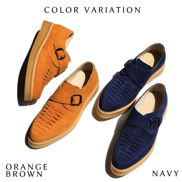 ディーゼル DIESEL モンクストラップシューズ 靴 メンズ 本革 スウェード 編み込み D-KHALLAT|tutto-tutto|02