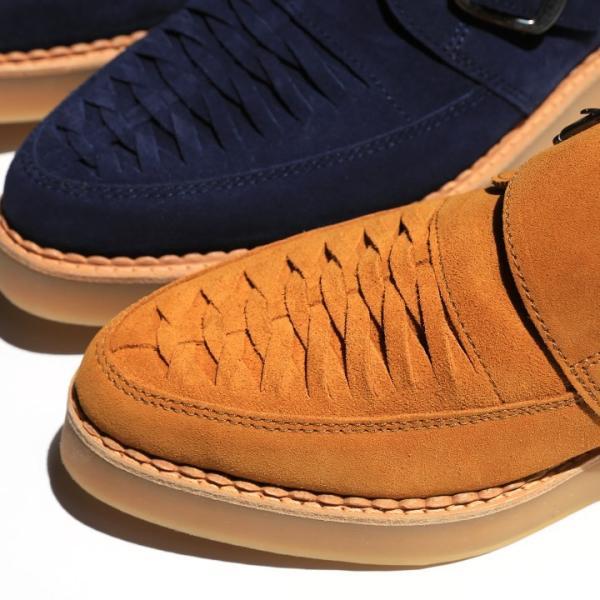 ディーゼル DIESEL モンクストラップシューズ 靴 メンズ 本革 スウェード 編み込み D-KHALLAT|tutto-tutto|03