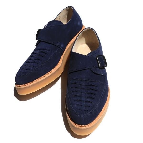 ディーゼル DIESEL モンクストラップシューズ 靴 メンズ 本革 スウェード 編み込み D-KHALLAT|tutto-tutto|04