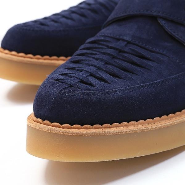 ディーゼル DIESEL モンクストラップシューズ 靴 メンズ 本革 スウェード 編み込み D-KHALLAT|tutto-tutto|05