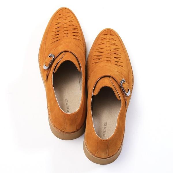 ディーゼル DIESEL モンクストラップシューズ 靴 メンズ 本革 スウェード 編み込み D-KHALLAT|tutto-tutto|09