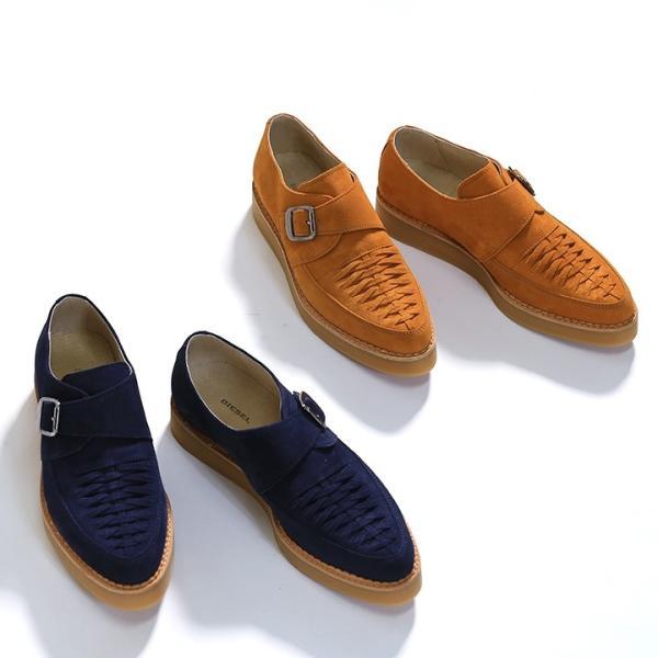 ディーゼル DIESEL モンクストラップシューズ 靴 メンズ 本革 スウェード 編み込み D-KHALLAT|tutto-tutto|10