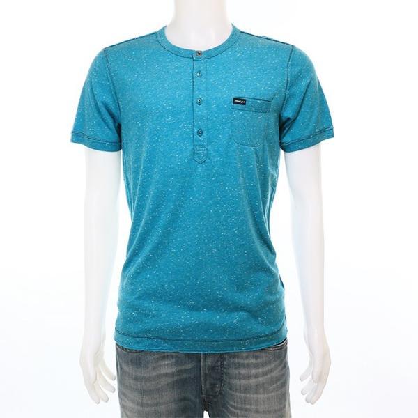 ディーゼル DIESEL Tシャツ カットソー メンズ ネップ加工 カットオフ ヘンリーネック 半袖 T-COSME|tutto-tutto|02