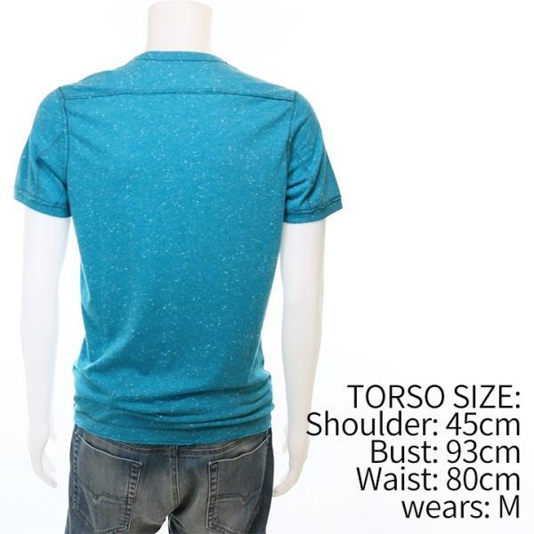ディーゼル DIESEL Tシャツ カットソー メンズ ネップ加工 カットオフ ヘンリーネック 半袖 T-COSME|tutto-tutto|03