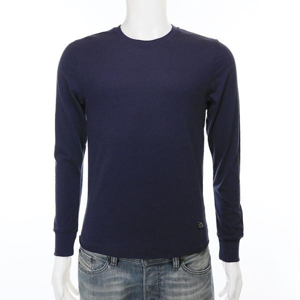 ディーゼル DIESEL Tシャツ カットソー メンズ シンプル 無地 薄手 ロンT 長袖 T-RAPID|tutto-tutto|02