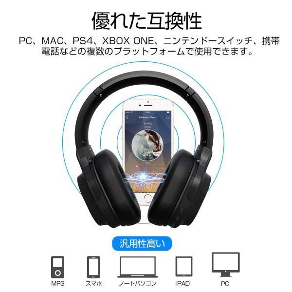 ワイヤレスヘッドフォン Bluetooth5.0 ワイヤレスヘッドホン 重低音 高音質 折りたたみ式 ケーブル着脱式 音漏れ防止 充電式 無線 有線 イヤホン マイク内蔵|tutuyo|19
