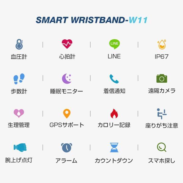 itDEAL スマートウォッチ ブレスレット iphone Android line対応 心拍計血圧計 腕時計 着信通知 ipx67防水 Bluetooth GPS 歩数計測 スポーツ|tutuyo|03