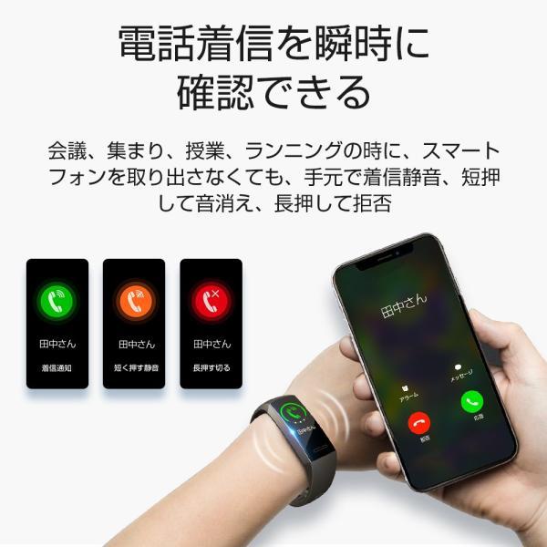 itDEAL スマートウォッチ ブレスレット iphone Android line対応 心拍計血圧計 腕時計 着信通知 ipx67防水 Bluetooth GPS 歩数計測 スポーツ|tutuyo|07