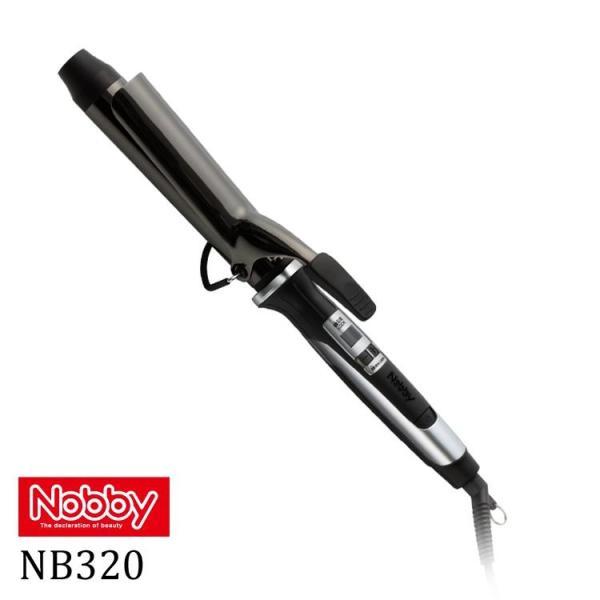 ノビーヘアーアイロン NB320 32mm 送料無料 ブラック NB320 NB-320  Nobby テスコム ノビーカールアイロン tuyakami