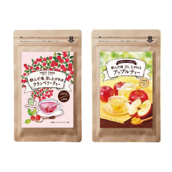 フルーツファーム FRUIT FARM 飲んだ後召し上がれるお茶 クランベリーティー アップルティー ポスト投函送料無料 菊星 お茶