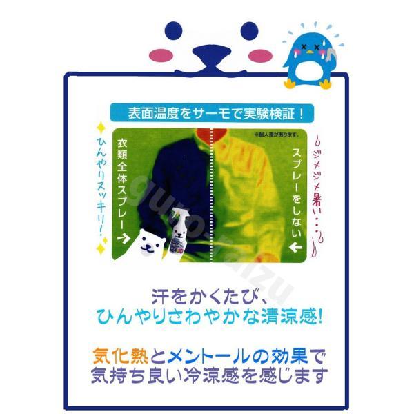 ひんやりシャツシャワー ストロングミント&グレープフルーツの香り RUGBY ラグビー日本代表コラボ 500ml ひんやり成分130% 数量限定 ストロング ときわ商会|tuyakami|03