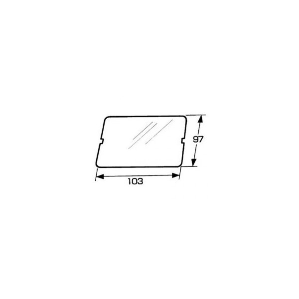 トヨトミ部品:窓雲母(のぞき窓)/11012502石油ストーブKS-851A用〔15g-1〕〔メール便対応可〕
