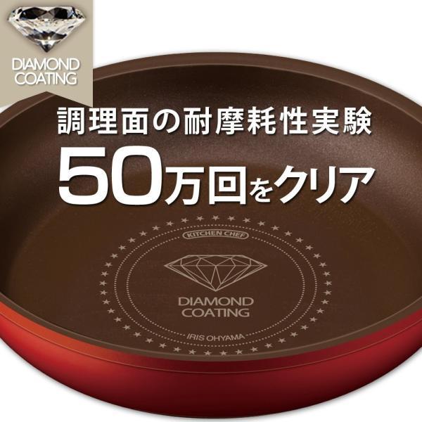 アイリスオーヤマ 「ダイヤモンドコートパン」 オレンジ 13点セット IH対応 取っ手のとれる フライパン 鍋 セット H-ISSE13P|tweedia|04