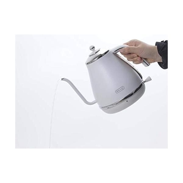 デロンギ アイコナ 電気カフェケトル 1.0L ホワイト KBOE1220J-W tweedia 04