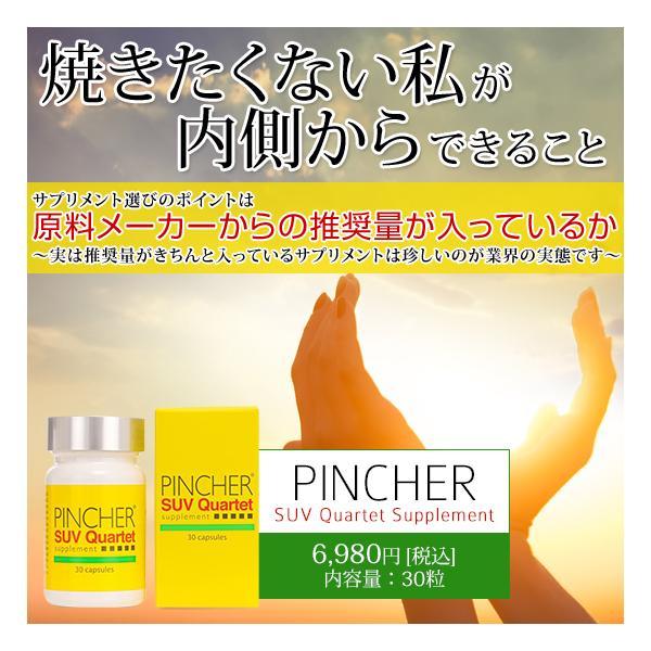 ピンシャー  メラニン 紫外線対策 美白 UV対策 シミ ソバカス 日焼け止め  《送料無料》 PINCHER SUV Quartet Supplement|twentycompany|02