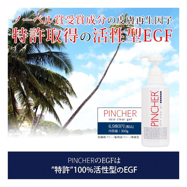 ピンシャー スキンクリアジェル 活性型EGF ピーリングジェル ココナッツオイル EGF 角質ケア 送料無料 モンドセレクション PINCHER skin clear gel 300ml|twentycompany|02