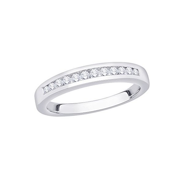 KATARINA Black and White Diamond Fashion Ring in Sterling Silver Size-9.75 1//4 cttw, G-H, I2-I3