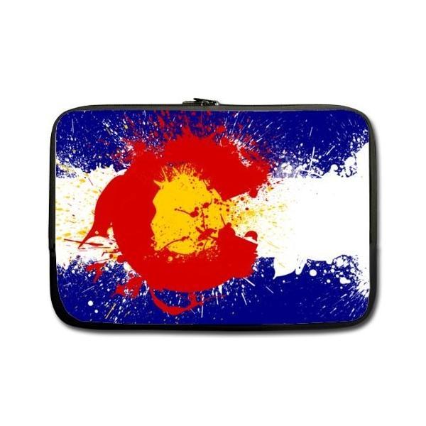 WECE 13インチコロラド州旗テーマポータブルラップトップ携帯ケーススリーブバッグfor MacBook、Macbook Air / Pro 13イ|twilight-shop