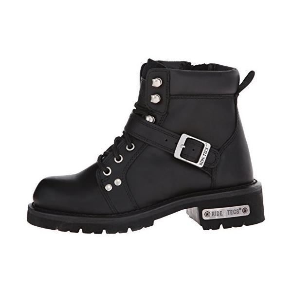 "Adtec レディース Women's 6"" Lace Zipper Boot Black-W カラー: ブラック"