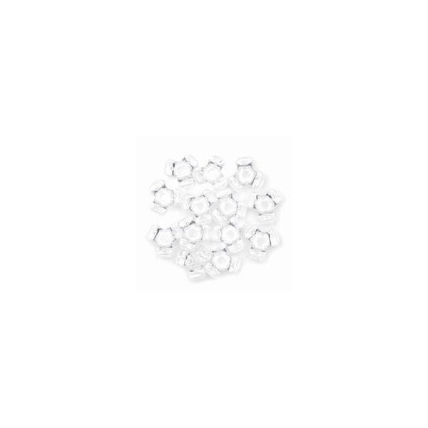 Darice 480-Piece Tri Bead, White by Darice